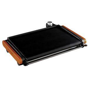 PLANCHA DE TABLE LAGRANGE - Plancha Poignées bois foncé 229001