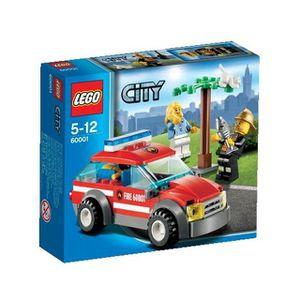 ASSEMBLAGE CONSTRUCTION LEGO® City 60001 La Voiture du Chef des Pompiers
