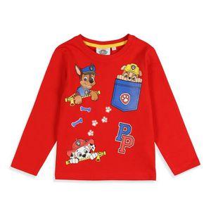 T-SHIRT PAT'PATROUILLE T-shirt Manches Longues Rouge Enfan