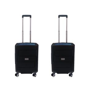SET DE VALISES Lot de 2 valise cabine 4 roulettes 100% Polypropyl