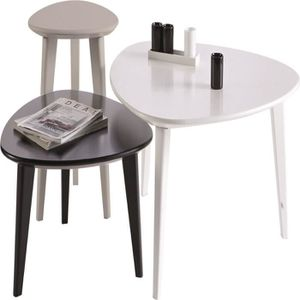 set de table noir et blanc achat vente set de table. Black Bedroom Furniture Sets. Home Design Ideas