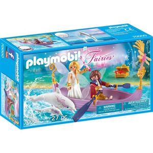 FIGURINE - PERSONNAGE PLAYMOBIL 70000 Fairies - Bateau romantique avec c
