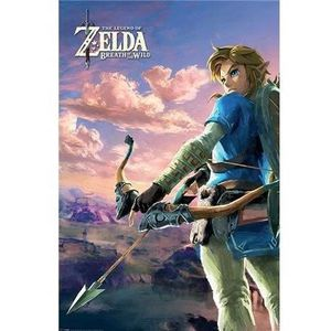 AFFICHE - POSTER PYRAMID Panneau en bois Zelda breath of the will w