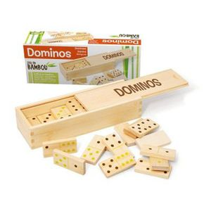JEU SOCIÉTÉ - PLATEAU L'ARBRE A JOUER Dominos - Coffret bambou