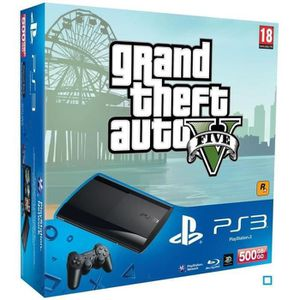 CONSOLE PS3 Pack Console PS3 500 Go Slim + Jeu GTA V