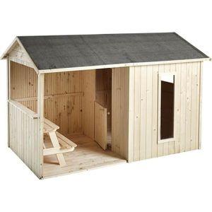 MAISONNETTE EXTÉRIEURE Cabane en bois pour enfant  JAZZ