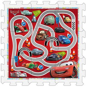 TABLE JOUET D'ACTIVITÉ CARS Tapis Puzzle en Mousse avec Sacoche, 9 pièces
