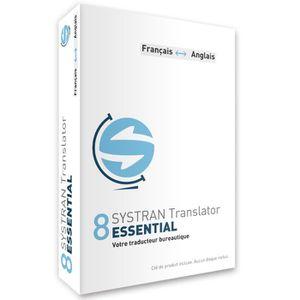 BUREAUTIQUE Systran 8 Translator Essential - Anglais / Françai