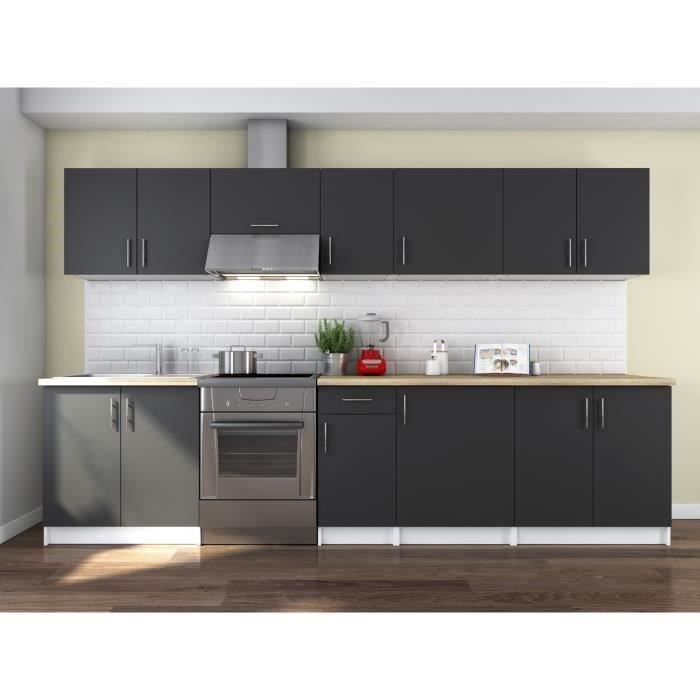 obi cuisine compl te l 3m20 gris mat achat vente cuisine compl te obi cuisine compl te. Black Bedroom Furniture Sets. Home Design Ideas