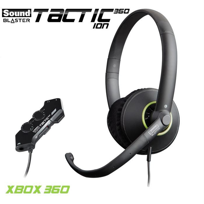 CREATIVE Casque Gamer - SB TACTIC360 ION - Filaire - Xbox - NoirCASQUE AVEC MICROPHONE