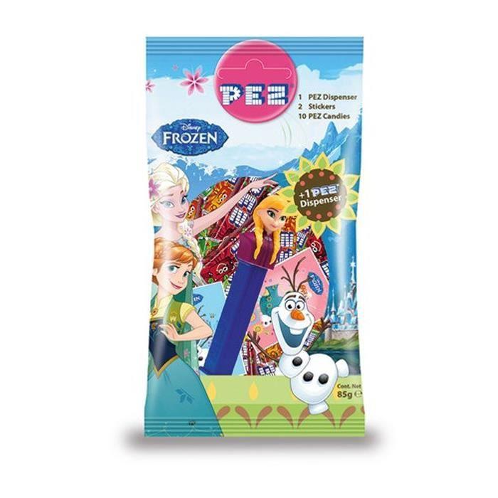 PEZ Bonbons au goût de fruits avec 2 stickers - 85 g