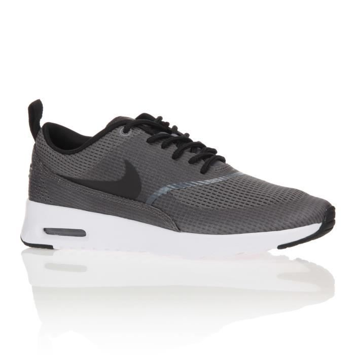nike baskets air max thea print chaussures femme femme gris et noir achat vente nike baskets. Black Bedroom Furniture Sets. Home Design Ideas