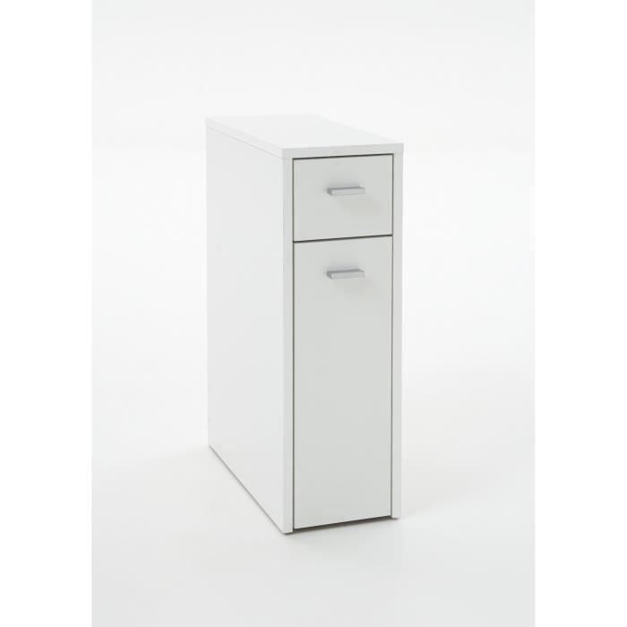 denia meuble de salle de bain l 20 cm blanc achat vente colonne armoire wc denia meuble. Black Bedroom Furniture Sets. Home Design Ideas
