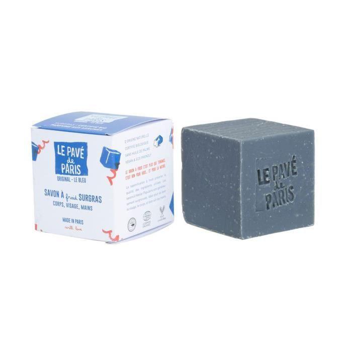 Le Pavé de Paris- 150gr : Savon saponifié à froid, certifié cosmos Organic, vegan, cruelty free