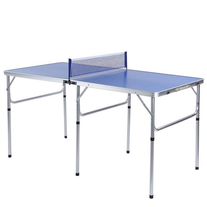 FUDANY-Table de ping-pong pliante réglé avec balle et palettes