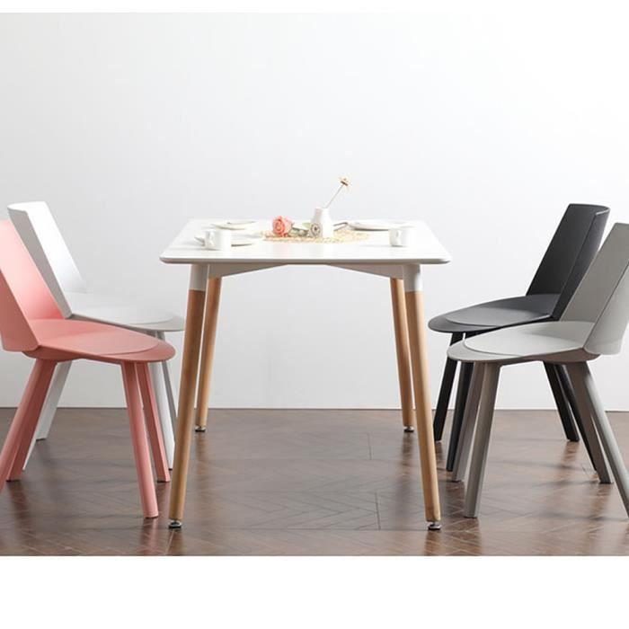 Table à manger Scandinave Design pour 4-6 personnes Rectangle Bois - Cuisine, Salon, Bureau,salle à manger L110 cm