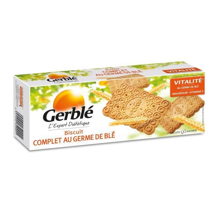 Gerblé biscuits complets au germe de blé x20 biscuits