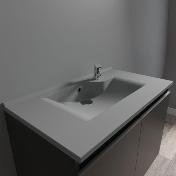 Plan simple vasque design gris RESILOGE - 80 cm