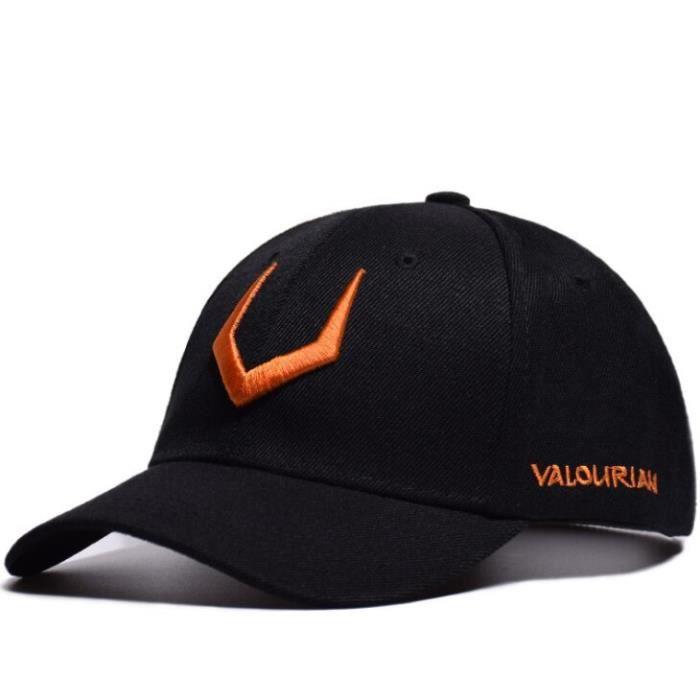 casquette de Baseball pour hommes, chapeau de style Hip-Hop, en coton, pour joueur de Tennis, pour papa, br black orange -DRFT7610