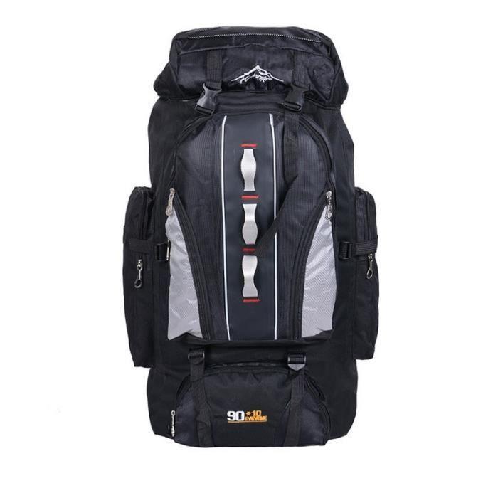 black -Grand sac à dos 100L extérieur sacs de sport étanche Nylon sac à dos femmes hommes randonnée Camping escalade pêche sac à dos