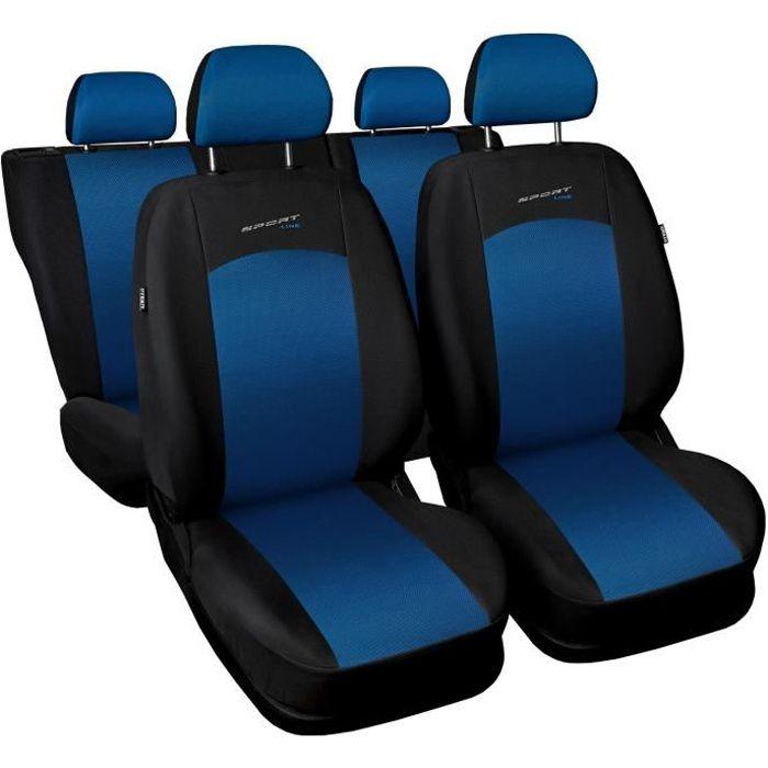 Housse De Siège Voiture Auto pour Fiat Punto Grande Evo 2012 Sportline Bleu Tissu de revetement/airmesh avec mousse set complet