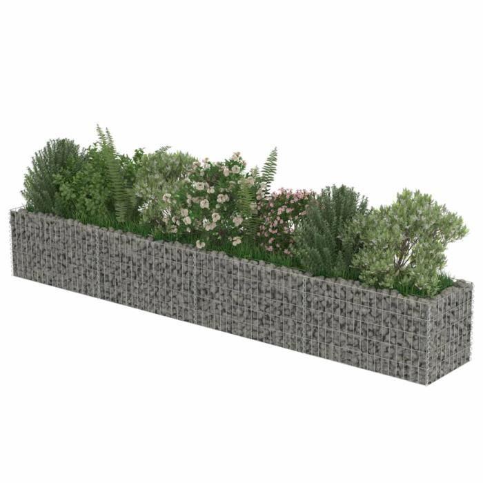 Haute qualité Jardinière à gabion - Bac A Fleur Acier galvanisé 360 x 50 x 50 cm *630806