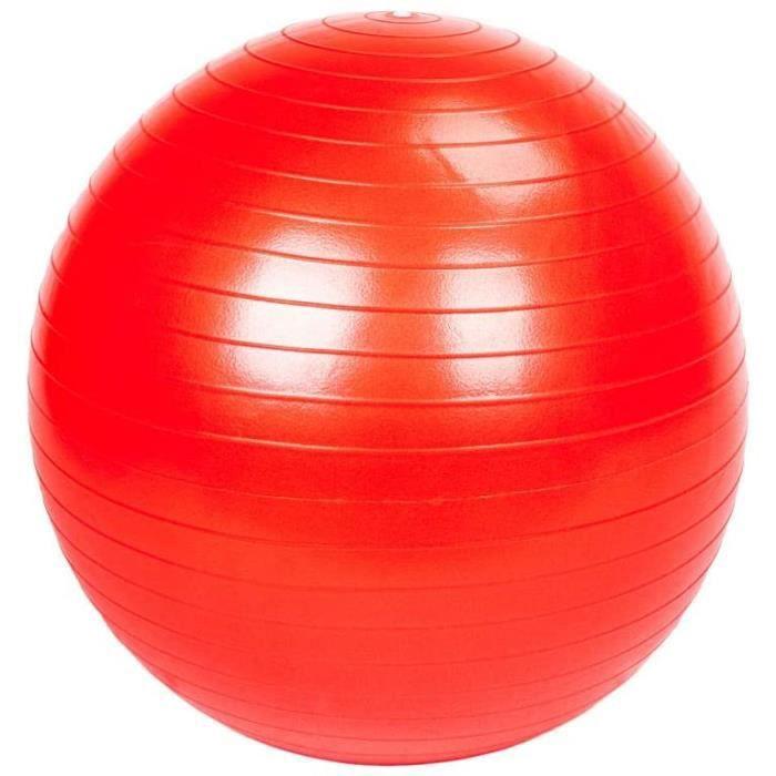GYM BALL YYI 65cm 1050g Gymmeacutenage Antideacuteflagrant eacutepaissir la Balle de Yoga Surface Lisse Rouge557
