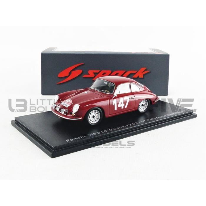 Voiture Miniature de Collection - SPARK 1/43 - PORSCHE 356 B 2000 Carrera 2 GS - 1964 - Red - S6600