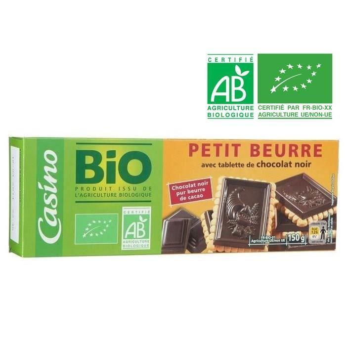 BOUVARD BISCUITS BIO Petit Beurre au Chocolat Noir - 150 g