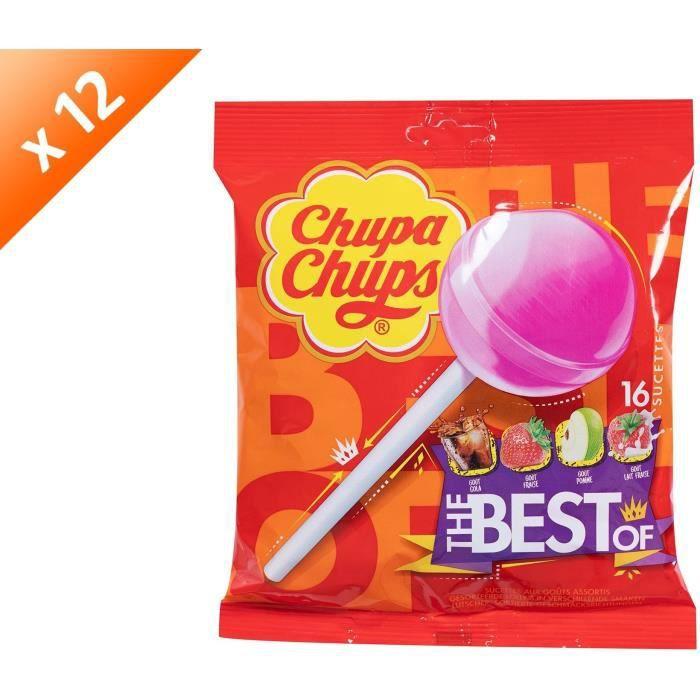 [LOT DE 12] Sucettes assorties 192 g Chupa Chups