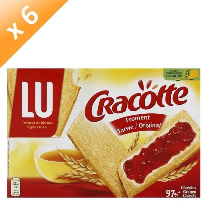 [LOT DE 6] Biscuits froment original 250 g Cracotte