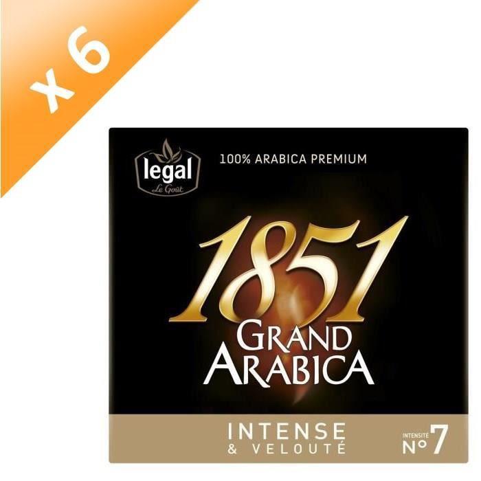 [LOT DE 6] LEGAL Cafés Grand Arabica 1851 Intense Moulu -2 x 250 g