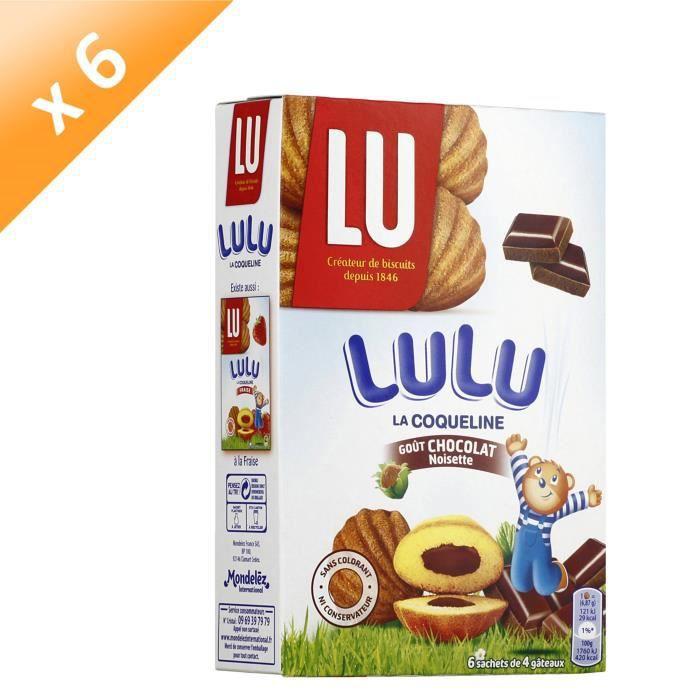 [LOT DE 6] LU La coqueline -Lulu- au chocolat 165g