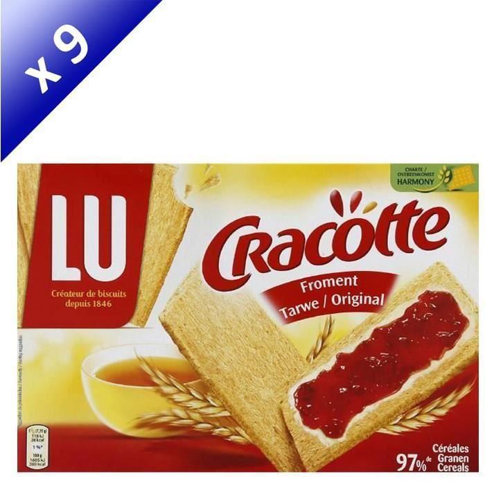 [LOT DE 9] Biscuits froment original 250 g Cracotte