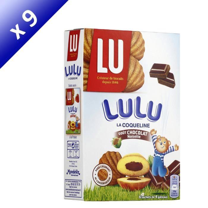 [LOT DE 9] LU La coqueline -Lulu- au chocolat 165g
