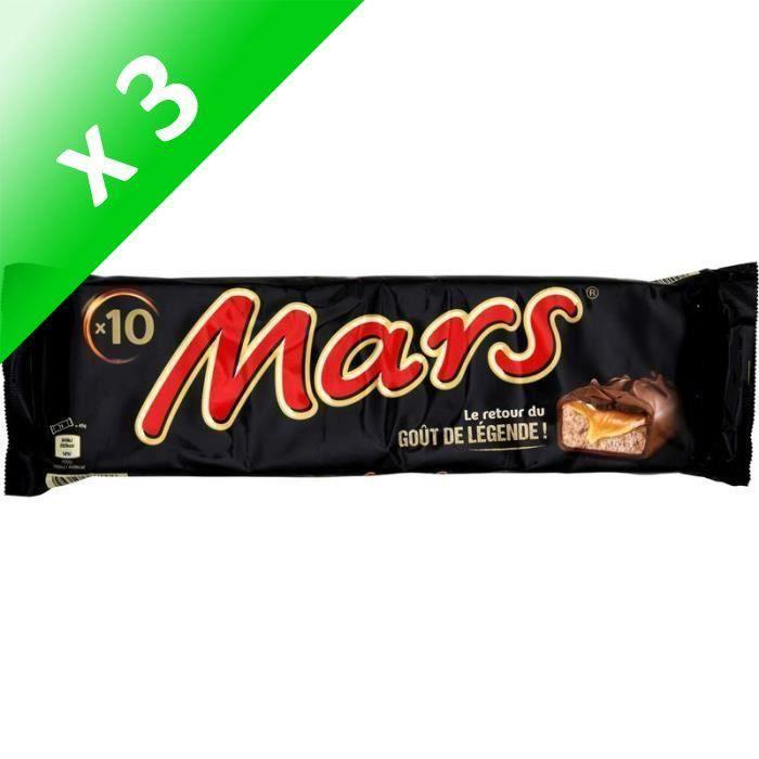 MARS Barres chocolatées Legend fourrées de confiserie et caramel - 10x 45 g (Lot de 3)