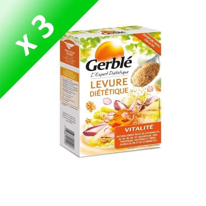 [LOT DE 3] Levure diététique 150 g Gerblé