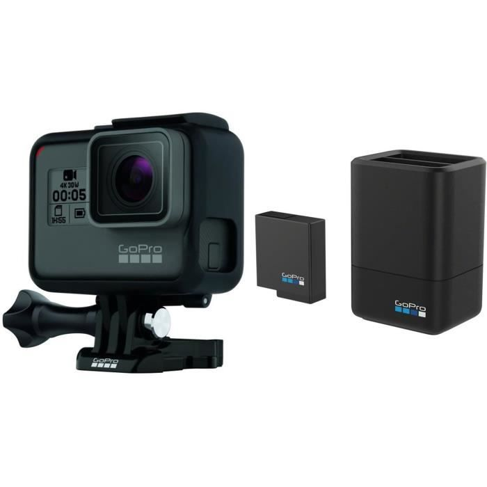 Pack GOPRO Hero 5 Black + Chargeur de batterie double et batterie