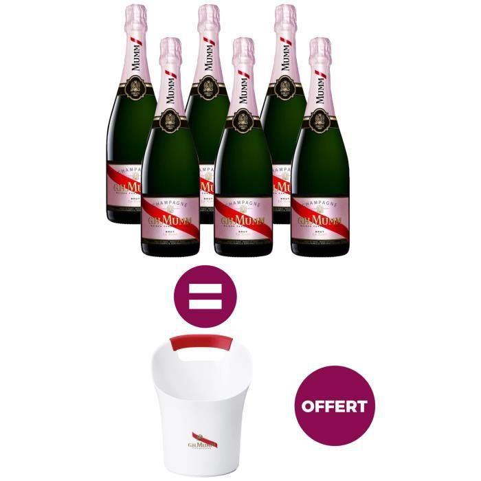 Champagne Mumm Brut Rosé avec étui + Seau à glace offert