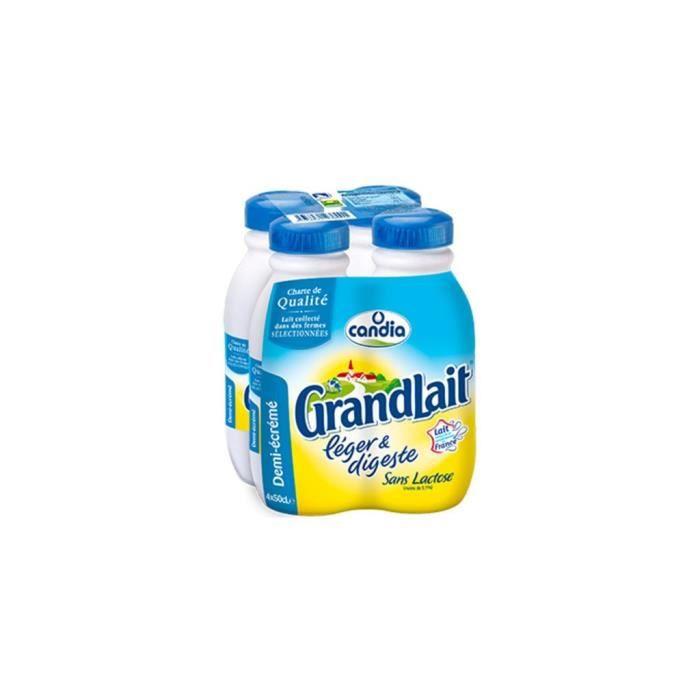 Candia GrandLait Léger Et Digeste 50cl (pack de 4)