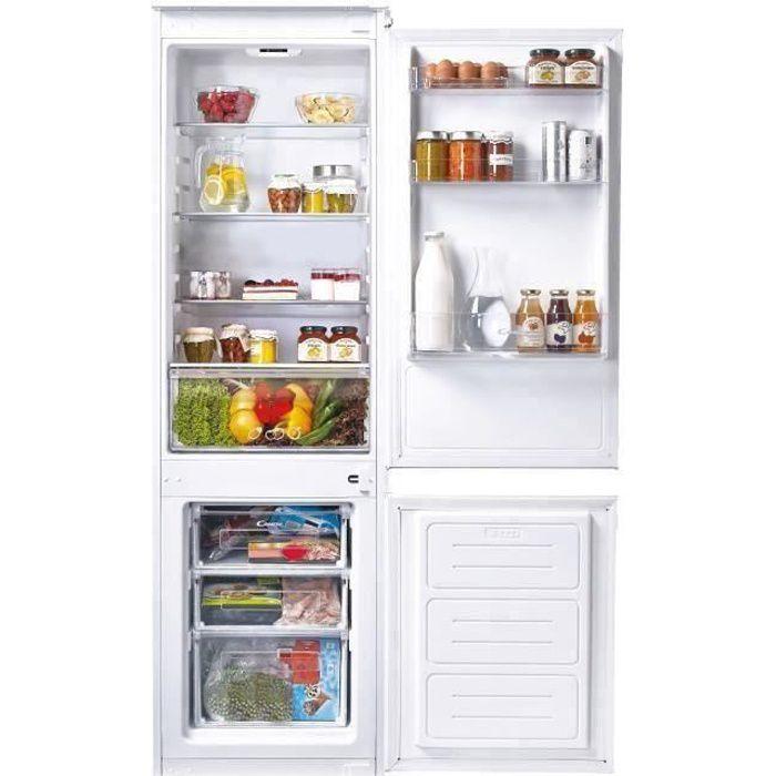 Candy CKBBS 100/1 - Refrigerateur Combiné encastrable - 250 L (190 + 60) - Froid Statique- A+ - L 57 cm x H 184 cm