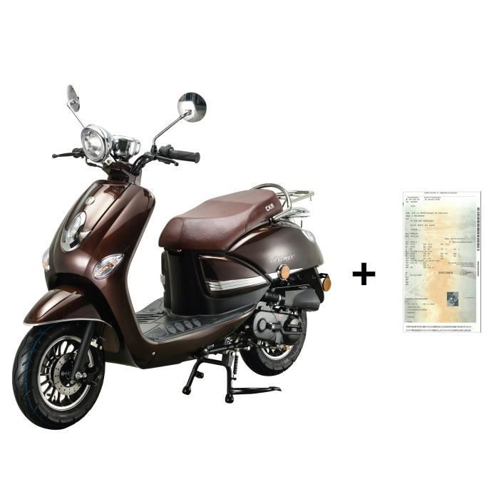 Scooter CKA REMIX MARRON 50cc 4T+ CARTE GRISE