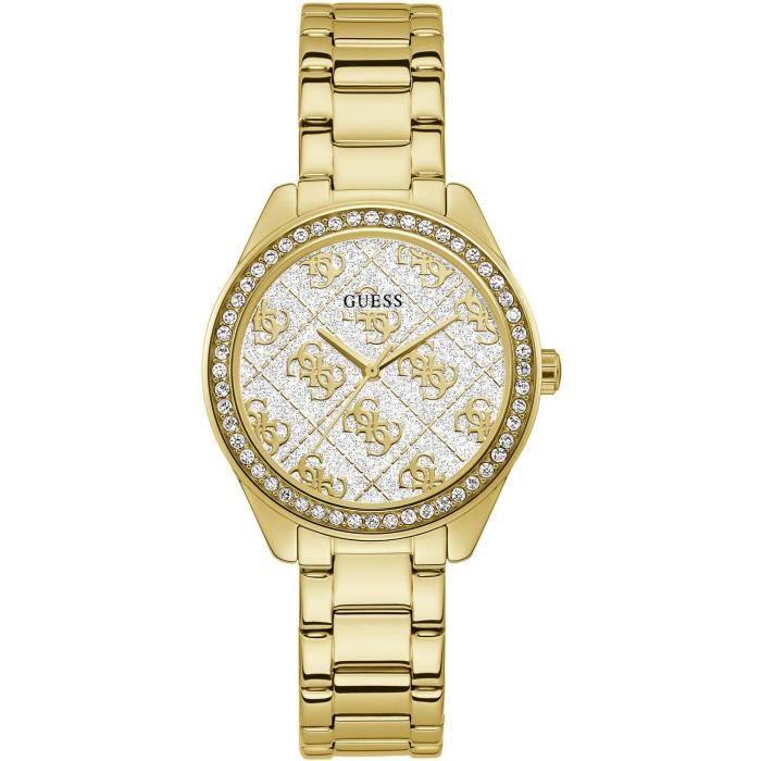 GUESS Guess Woman Watch - SUGAR Gold Femme 37mm Doré Quartz Montre GW0001L2