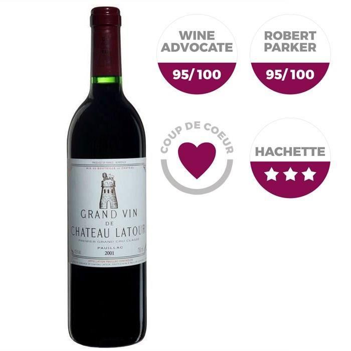 Grand Vin de Château Latour 2001 Pauillac Grand Cru - Vin rouge de Bordeaux