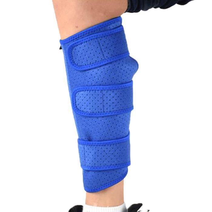 1PC crochet et boucle bleu coussinets de protection pour mollet manchon de Compression de pour le LEG PROTECTOR - THIGH PROTECTOR