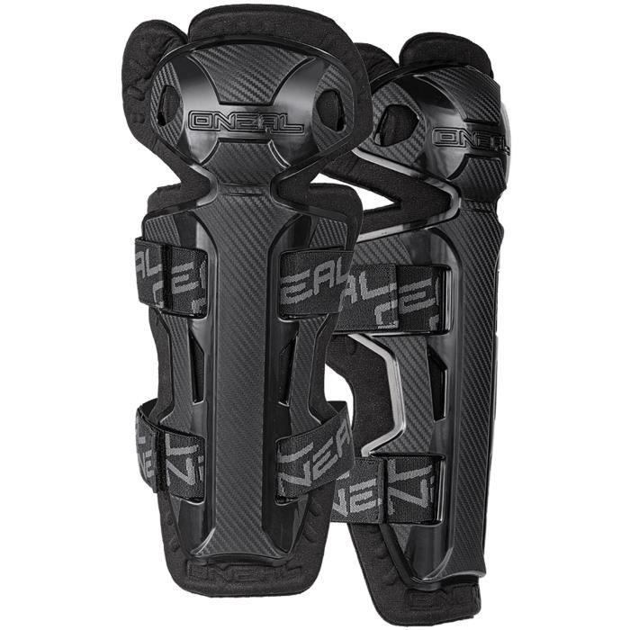 Paire de Protège-tibias et genou MX ONeal 2018 Pro II RL - Carbon Look Noir