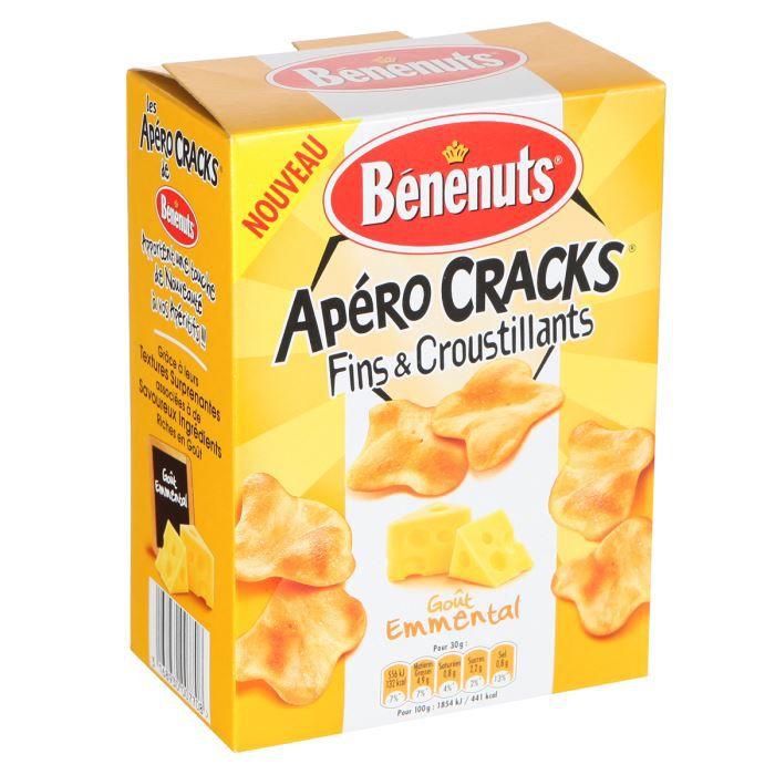 Benenuts Apéro Cracks fins et croustillants à l'emmental 90g