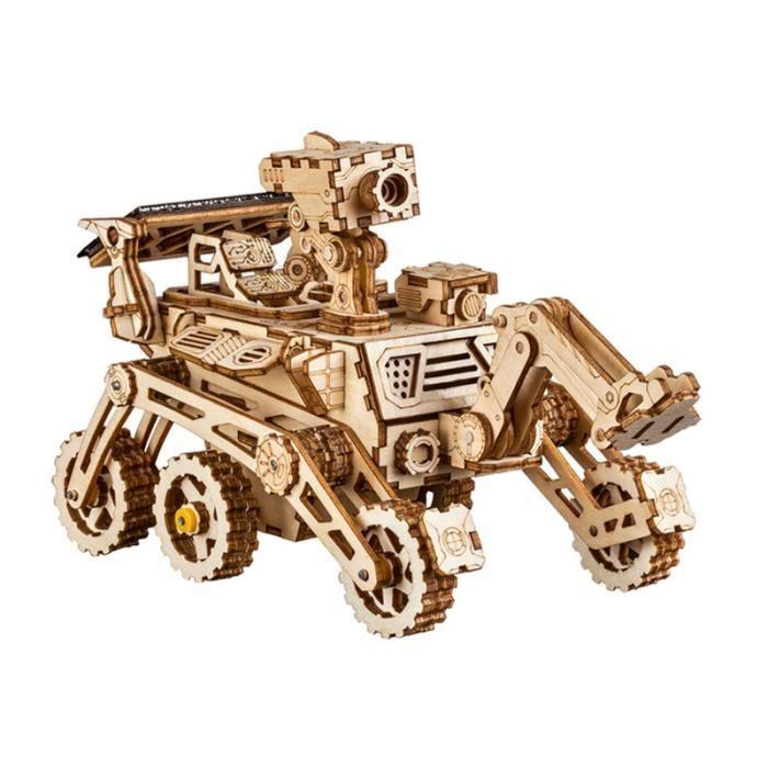 Robotime Kits de construction de modèle de bricolage Curiosity 3D Puzzle en bois jouet d'énergie solaire cadeau pour garçon adultes