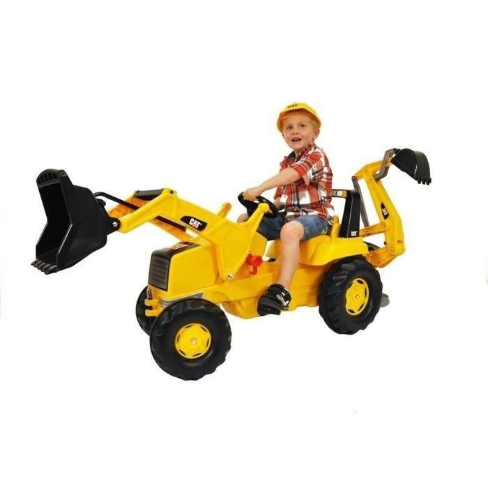 ROLLY TOYS Tractopelle Caterpillar + Excavateur
