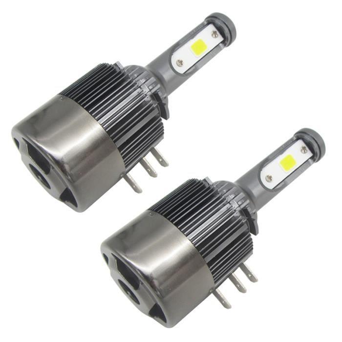 2 PCS 55 W / ampoule 110 W / ensemble 11000LM / ensemble H15 LED phares Remplacer HID Bi-Xenon Hi / Lo Ampoule 6000K Blanc Lampe